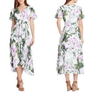 NWT Tahari Floral Leaf Midi Dress